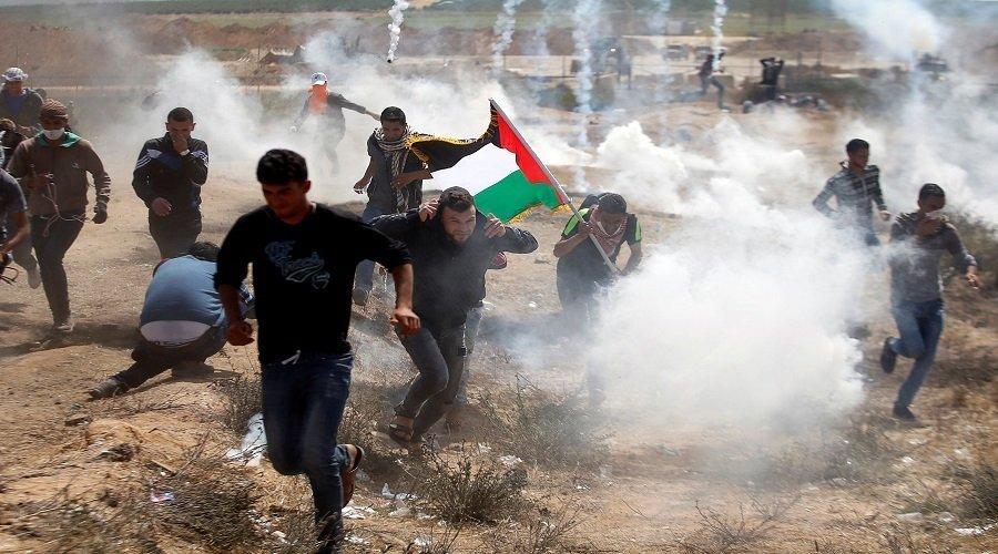 إصابة ثلاثة فلسطينيين برصاص قوات الاحتلال خلال مسيرات العودة شرق غزة