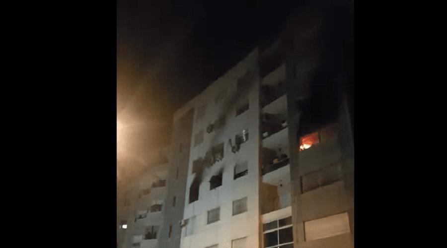 بالفيديو.. امرأة تنقذ ابنتها ببطولية من نيران حريق بالقنيطرة