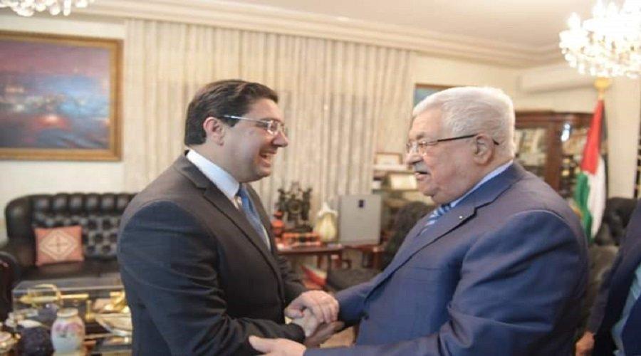 بوريطة يبلغ الرئيس الفلسطيني رسالة شفوية من الملك