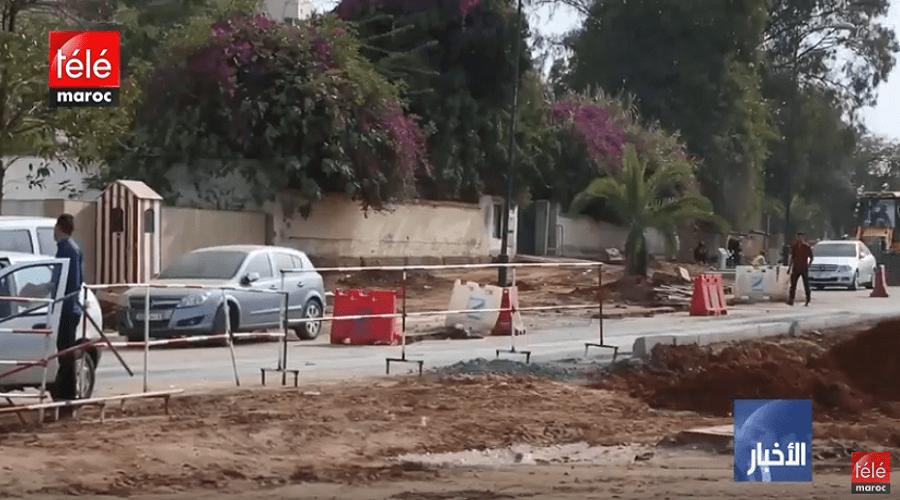 حفر وبالوعات بسبب انتشار الأشغال في أحياء العاصمة تزعج الرباطيين