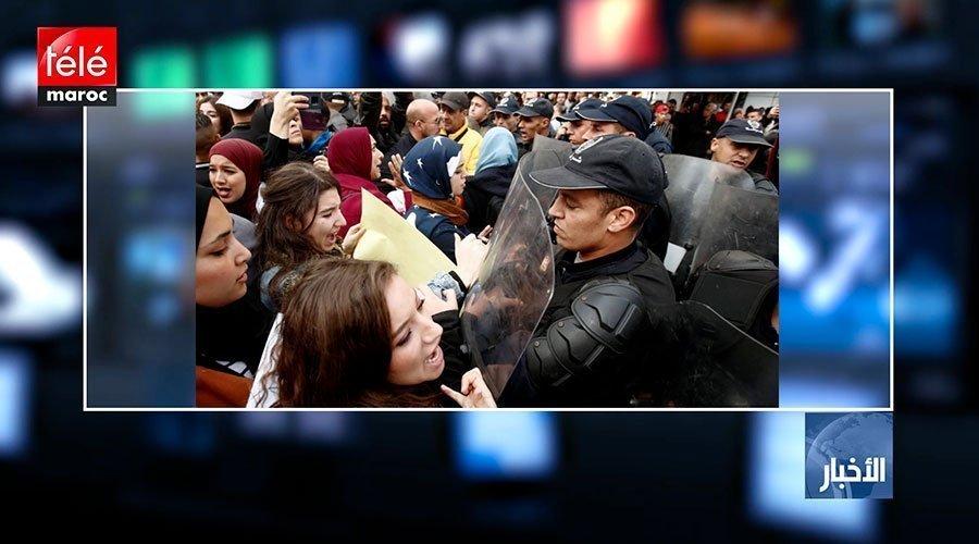 الشرطة تفرق بالقوة تظاهرة طلابية معارضة للانتخابات وسط الجزائر العاصمة