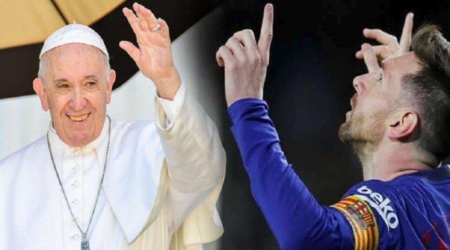 """بابا الفاتيكان يصدر فتوى بخصوص """"ميسي"""""""