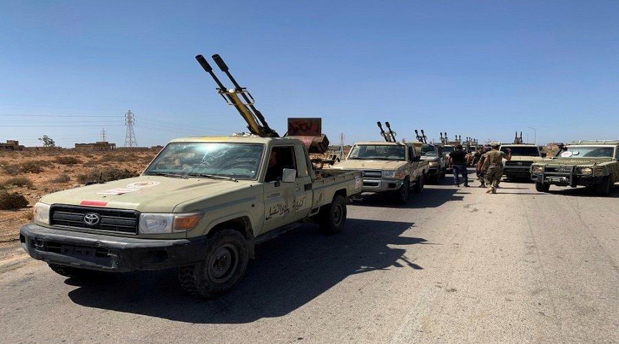 مع اقتراب معركة سرت.. مقاتلو حكومة الوفاق الليبية يتوجهون للجبهة