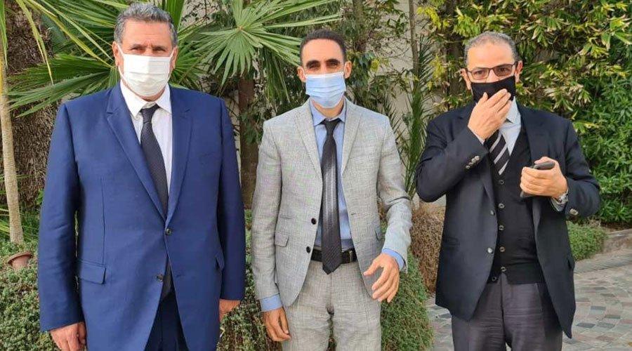 """أخنوش يستقبل الناصري برلماني """"البيجيدي"""" الملتحق بالتجمع الوطني"""