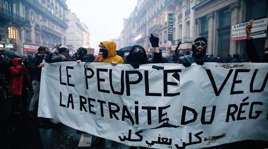 تظاهرات حاشدة في فرنسا ضد إصلاح التقاعد والشرطة تستعمل الغاز