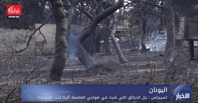 تسيبراس : جل الحرائق التي شبت في ضواحي العاصمة أثينا تحت السيطرة