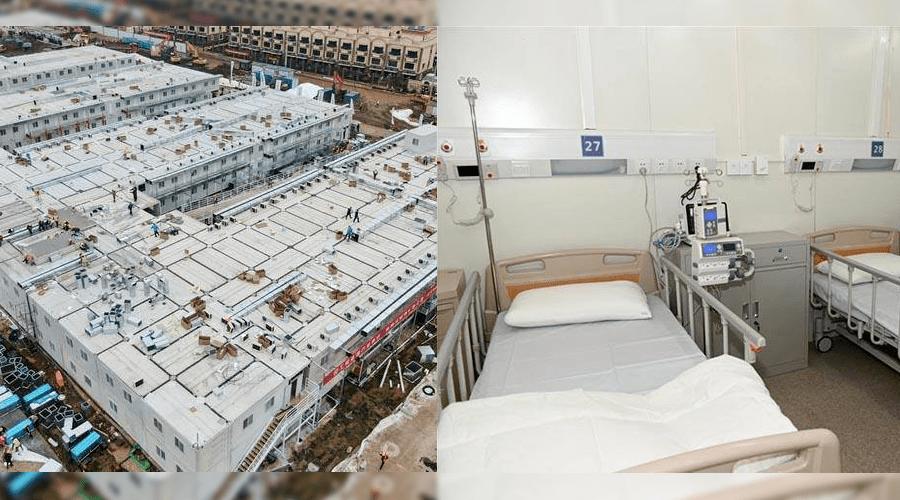بعد بناءه في 10 أيام.. مستشفى الصين الجديد يستقبل مرضى كورونا