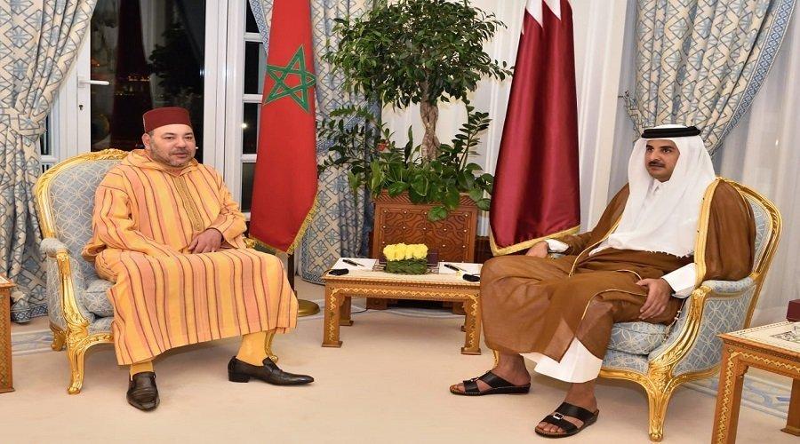 الملك محمد السادس يتلقى اتصالا هاتفيا من أمير دولة قطر