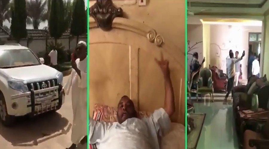 شاهد.. محتجون يقتحمون منزل الرئيس السوداني المخلوع عمر البشير