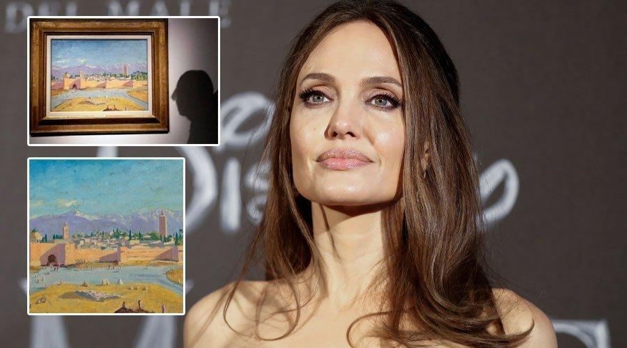 أنجلينا جولي تبيع «لوحة مراكش» في المزاد العلني