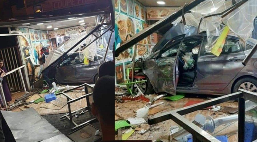 سائق مخمور يدهس مجموعة مواطنين في محل للمأكولات بمراكش