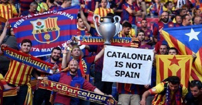 """رئيس """"الليغا"""" الإسبانية يحسم مصير برشلونة وأندية إقليم كتالونيا"""