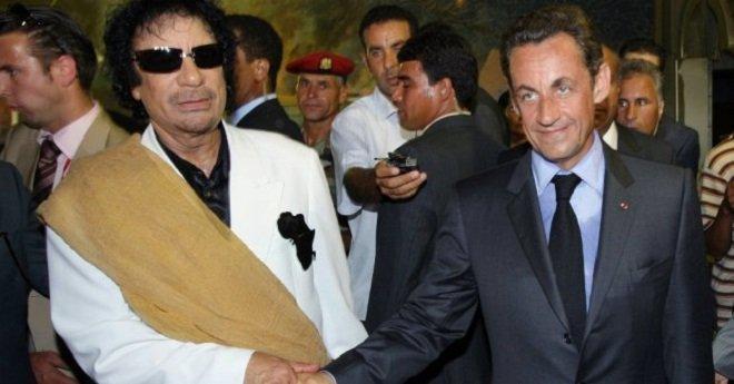 اعتقال الرئيس الفرنسي السابق ساركوزي بسبب القذافي !!
