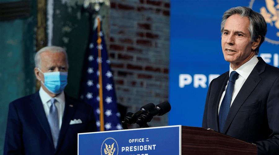 وزير الخارجية الأمريكي يؤكد أن إدارة بايدن لن تتراجع عن الإعتراف