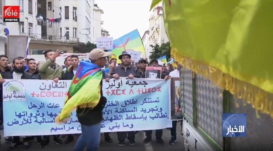 مسيرة حاشدة احتجاجا على الرعي الجائر والخنزير البري و مطالب بتحديد الملك الغابوي