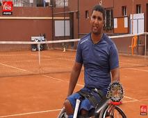 في بيتنا بطل: قصة بطل تحدى الإعاقة وحقق حلمه باحتراف رياضة كرة المضرب