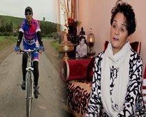 غيثة صلاح الدين أول بطلة  مغربية في سباق الدراجات.