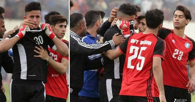 صور مؤثرة.. حارس مرمى عراقي يخفي خبر وفاة ابنته لخوض مباراة مع فريقه