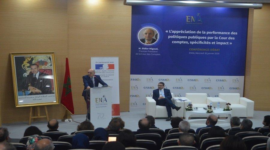 رئيس  مجلس الحسابات الفرنسي يترأس ندوة بالمدرسة الوطنية العليا للإدارة (ENSA)