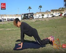 تمارين رياضية جديدة مع الكوتش كلثوم أضمير لتقوية عضلات الجسم
