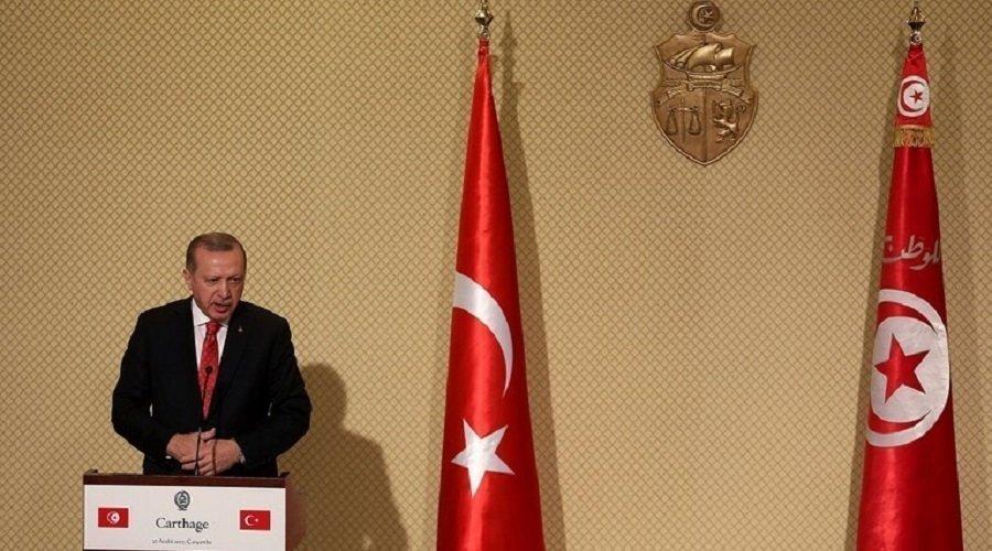 أردوغان يصل تونس للقاء قيس سعيد