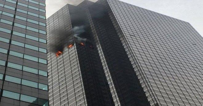 """فيديو ..إخماد حريق """"محدود جدا"""" في برج ترامب في نيويورك"""