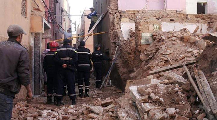 انتشال جثة ونجاة ثلاثة اخرين في انهيار جزئي لبناية ببني ملال
