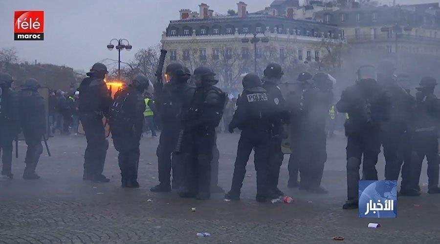"""اشتباكات بين قوات الأمن والمتظاهرين في الأسبوع التاسع من احتجاجات """"السترات الصفراء"""""""