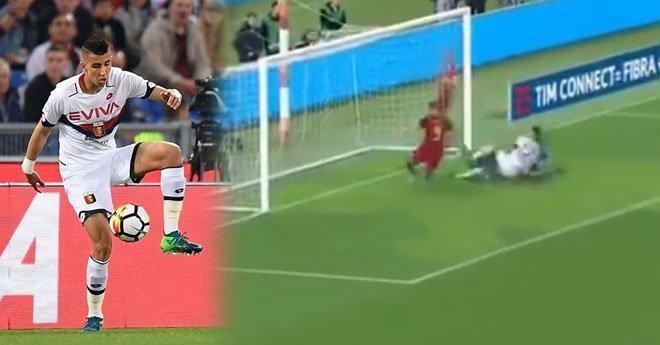 فيديو .. الياميق ينقد فريقه من هدف محقق أمام روما