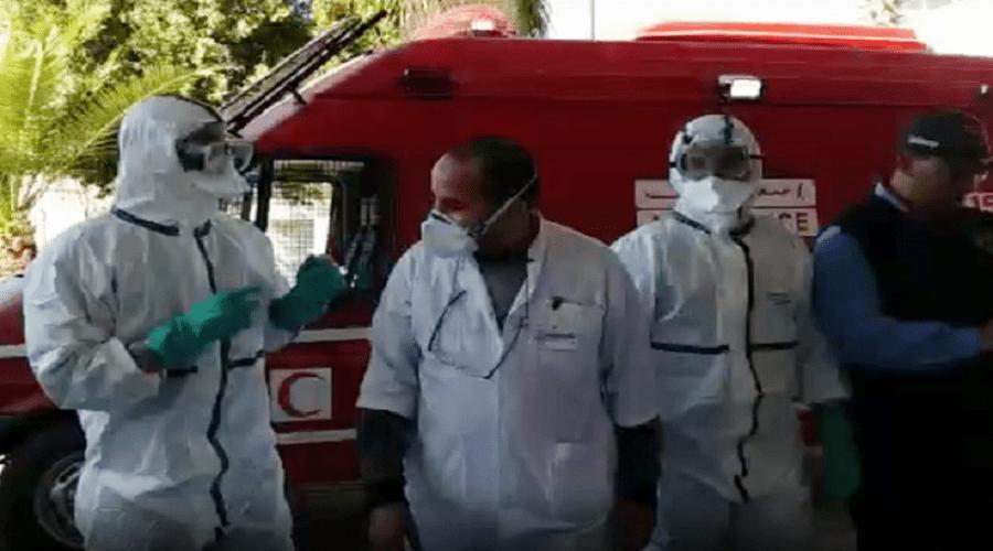 بالفيديو.. الاشتباه في إصابة شخص بكورونا يستنفر مستشفى بسطات