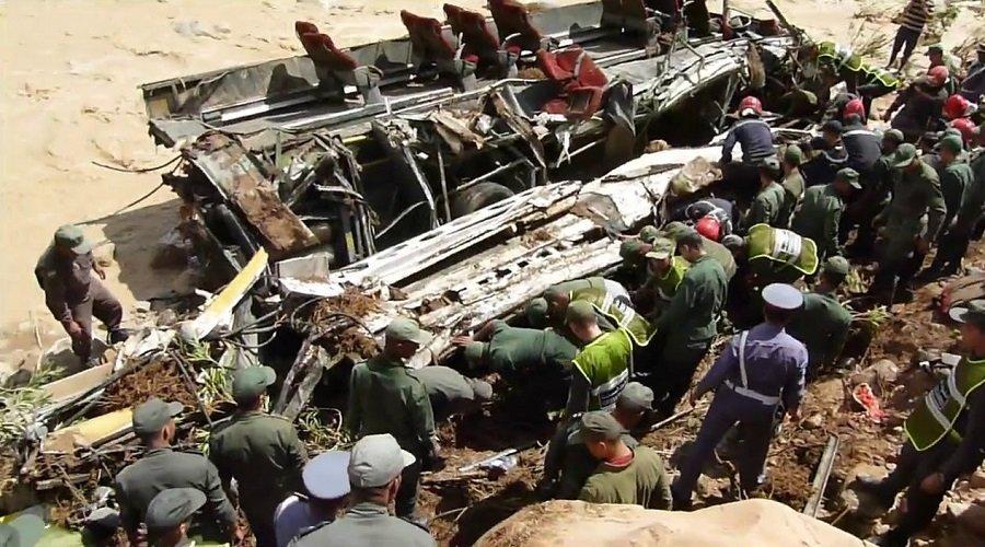 الأمن يستمع إلى سائق حافلة الراشيدية