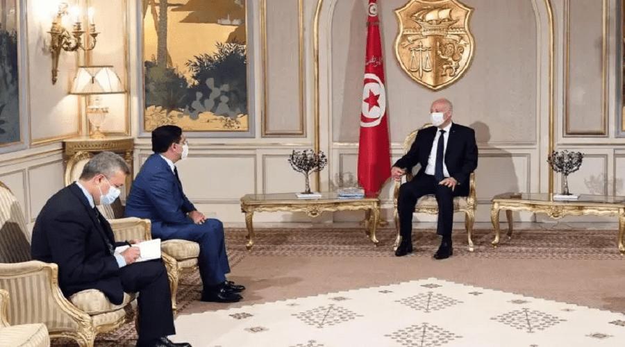 بوريطة ينقل رسالة شفوية من الملك إلى قيس والنيابة العامة التونسية