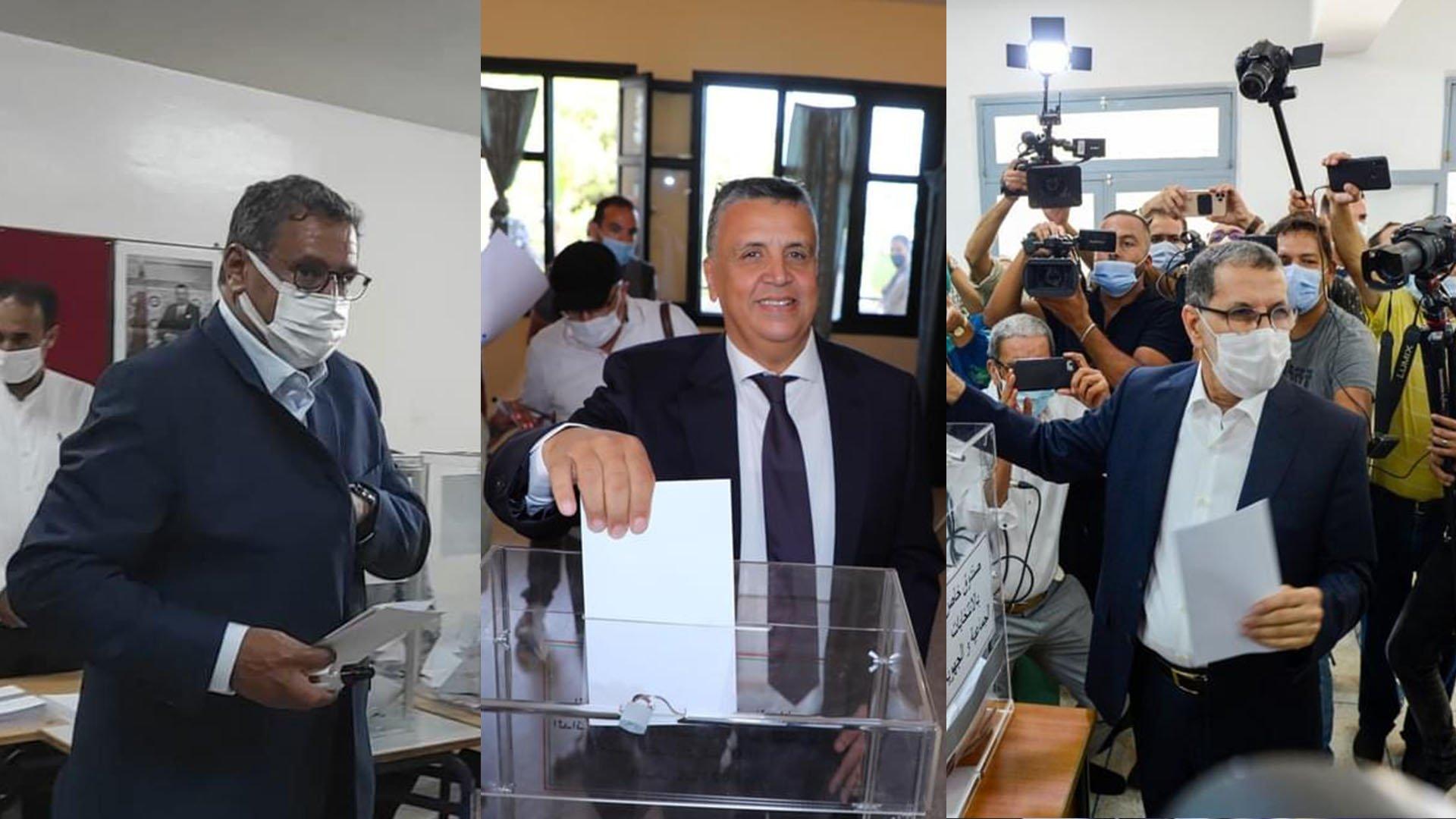 قادة الأحزاب أول  المصوتين والنسبة الأولية للمشاركة سجلت 12