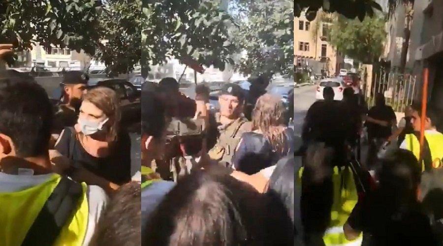 بالفيديو.. محتجون يطردون وزيرة العدل اللبنانية ويطالبونها بالاستقالة