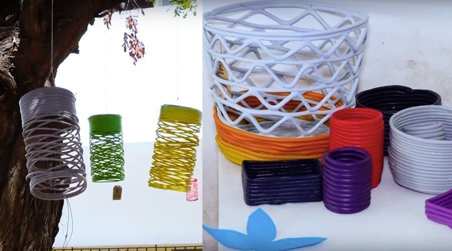 كون و دار بنة..شركتان تبدعان قطعا فنية مميزة من رحم أكوام النفايات
