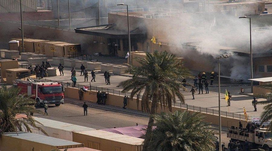 استهداف السفارة الأمريكية في بغداد بصاروخين