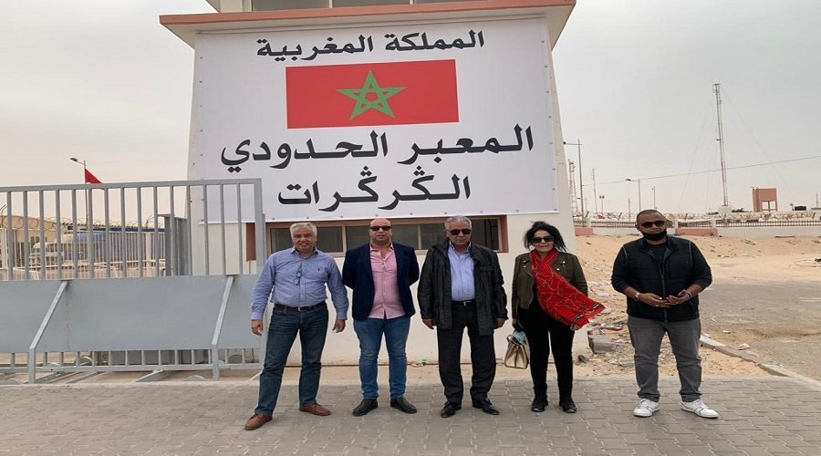 الجمعية الوطنية للإعلام والناشرين أول فريق إعلامي مغربي يصل للكركرات
