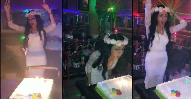 بالفيديو.. مصرية تقيم حفلا للاحتفال بطلاقها