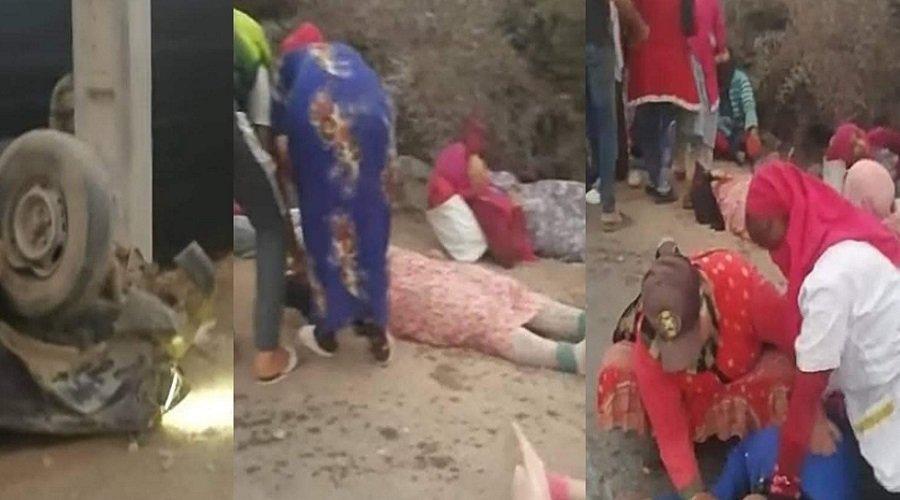 إصابة حوالي 20 عاملة زراعية في حادث انقلاب بيكوب ضواحي أكادير