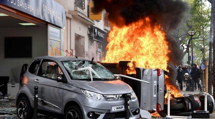 انفجار قوي وسط باريس يستنفر السلطات الفرنسية