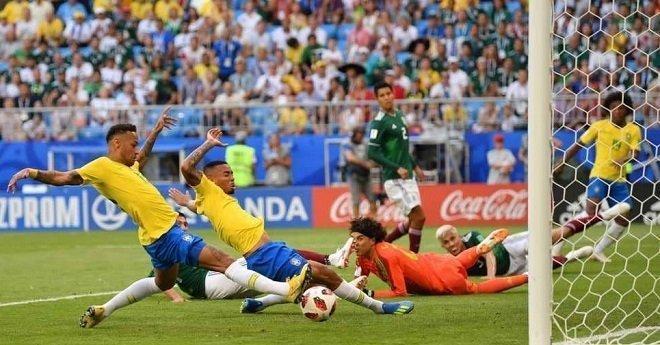 نيمار يقود البرازيل إلى ربع نهائي المونديال