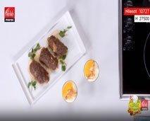 شاف لغسيط: ستيك اللحم معمر بالسبانخ + الطماطم المجففة + تحلية بالمشمش