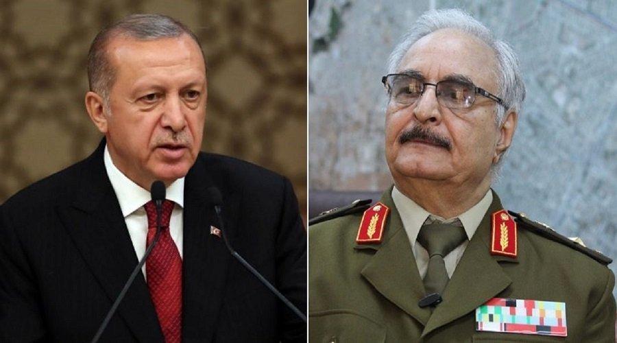 أردوغان يتوعد حفتر بتلقينه درسا