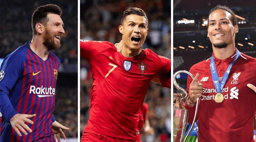 ميسي ورونالدو وفان دايك مرشحون لجائزة أفضل لاعب في أوروبا