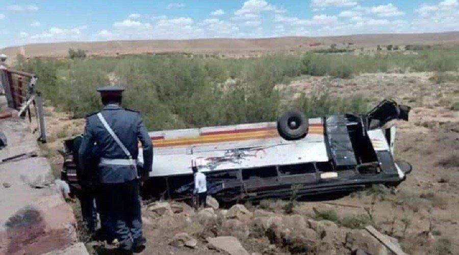 ضحايا في حادث انقلاب حافلة نواحي ورزازات