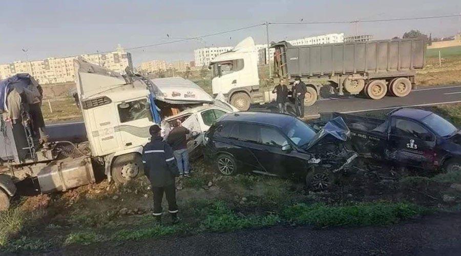 12 جريحا وخسائر مادية كبيرة ..حصيلة أولية للحادث