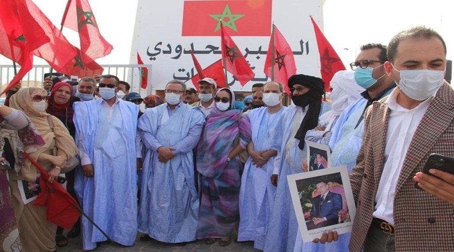 لجنة متابعة قضية الصحراء المغربية بالأحرار تزور الكركرات