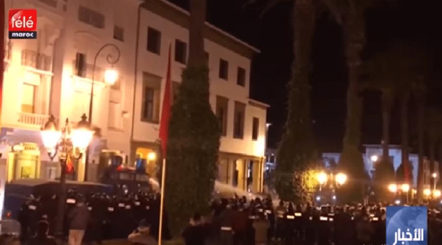 الأساتذة المتعاقدون يردون على تدخل الأمن لفض اعتصامهم أمام البرلمان