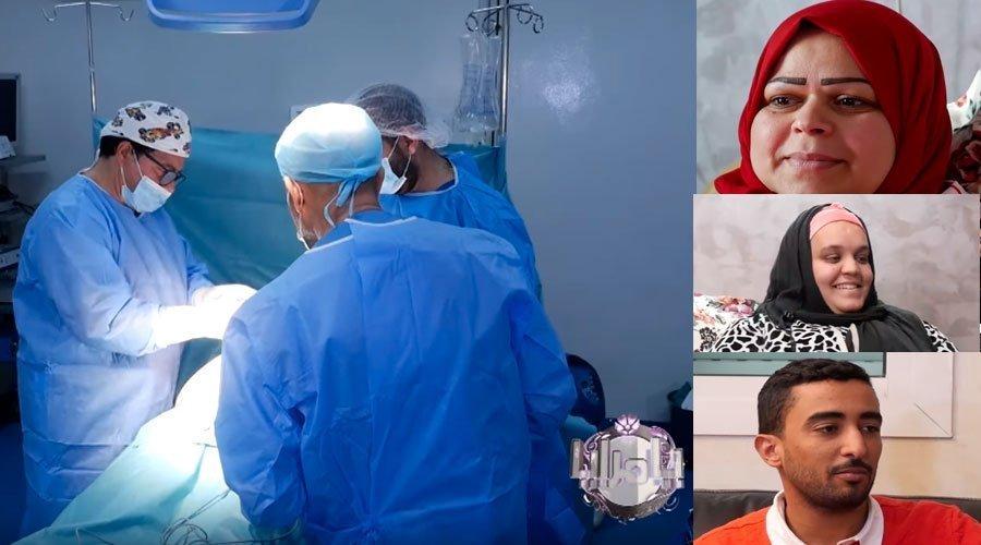 يا مرايا : لحظة إجراء د. التازي عمليات تجميل لبديعة وفاطمة الزهراء وزهير