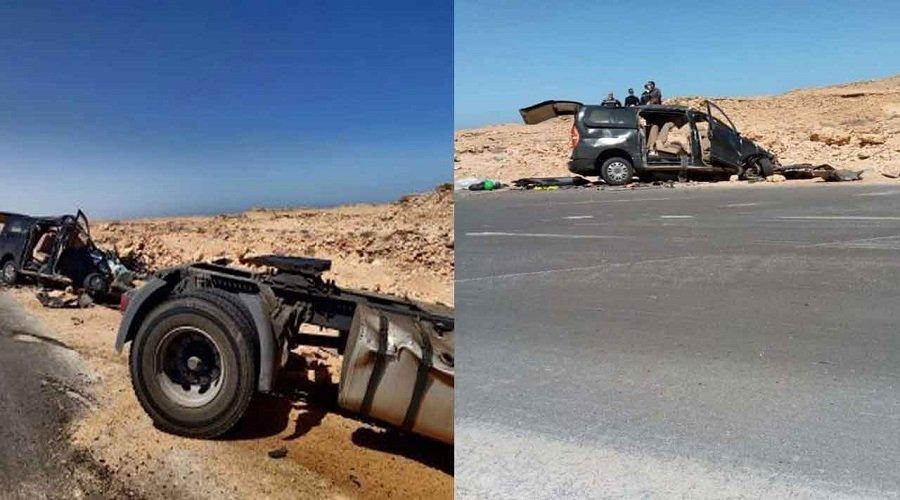 مقتل 10 أشخاص في حادث سير مروع ببوجدور